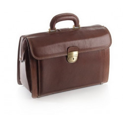 Borsa medico in pelle di vitello pieno fiore - executive 38x26x16cm