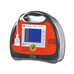 DEFIBRILLATORE HEART SAVE AED M - con batteria ricaricabile e Monitor - GB/IT/FR/ES